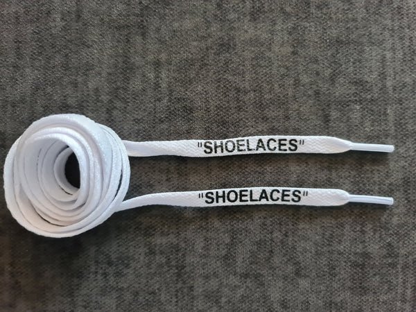120cm Off-white 8mm Flat White 'Shoelace'