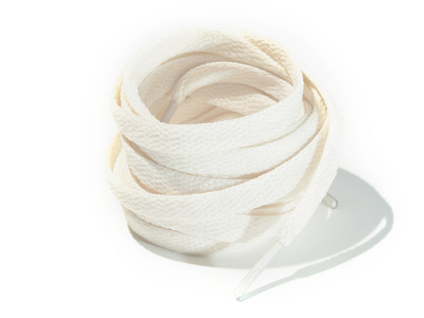 Vintage White Cream 8mm Flat Solid Colour Laces