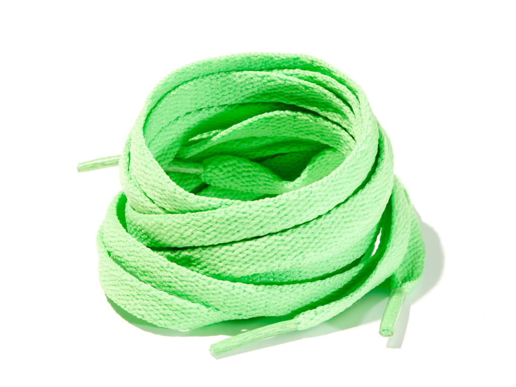 Grass Green 8mm Flat Solid Colour Laces