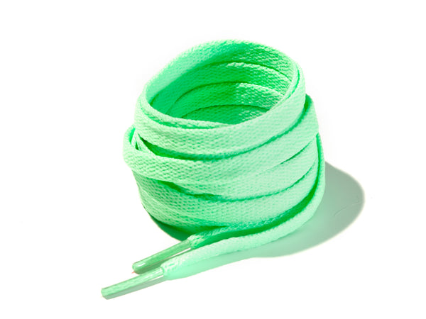 Apple Green 8mm Flat Solid Colour Laces