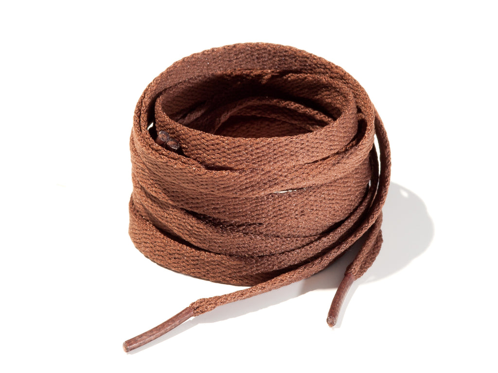 Dark Brown 8mm Flat Solid Colour Laces