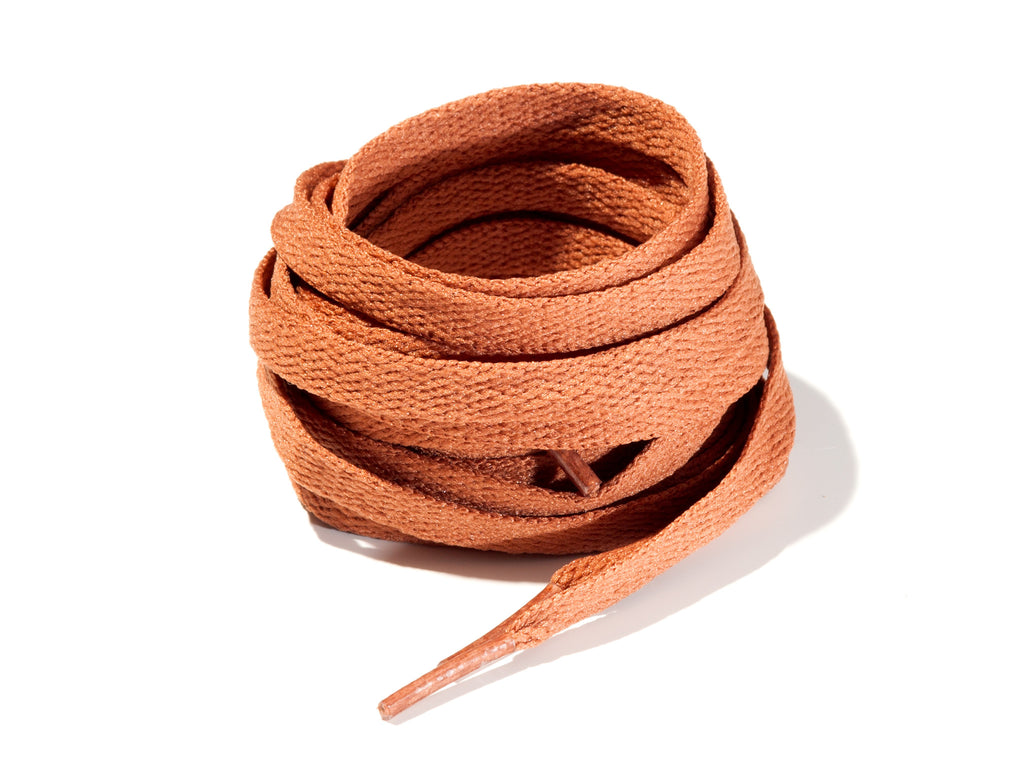 Brown Tan 8mm Flat Solid Colour Laces