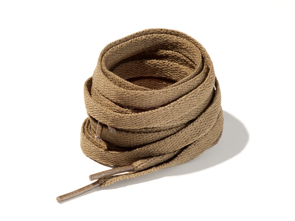 Army Green 8mm Flat Solid Colour Laces