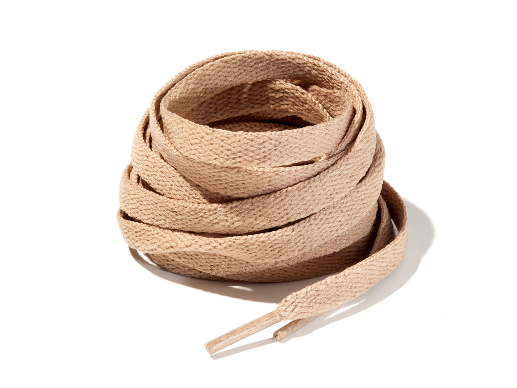 Khaki 8mm Flat Solid Colour Laces