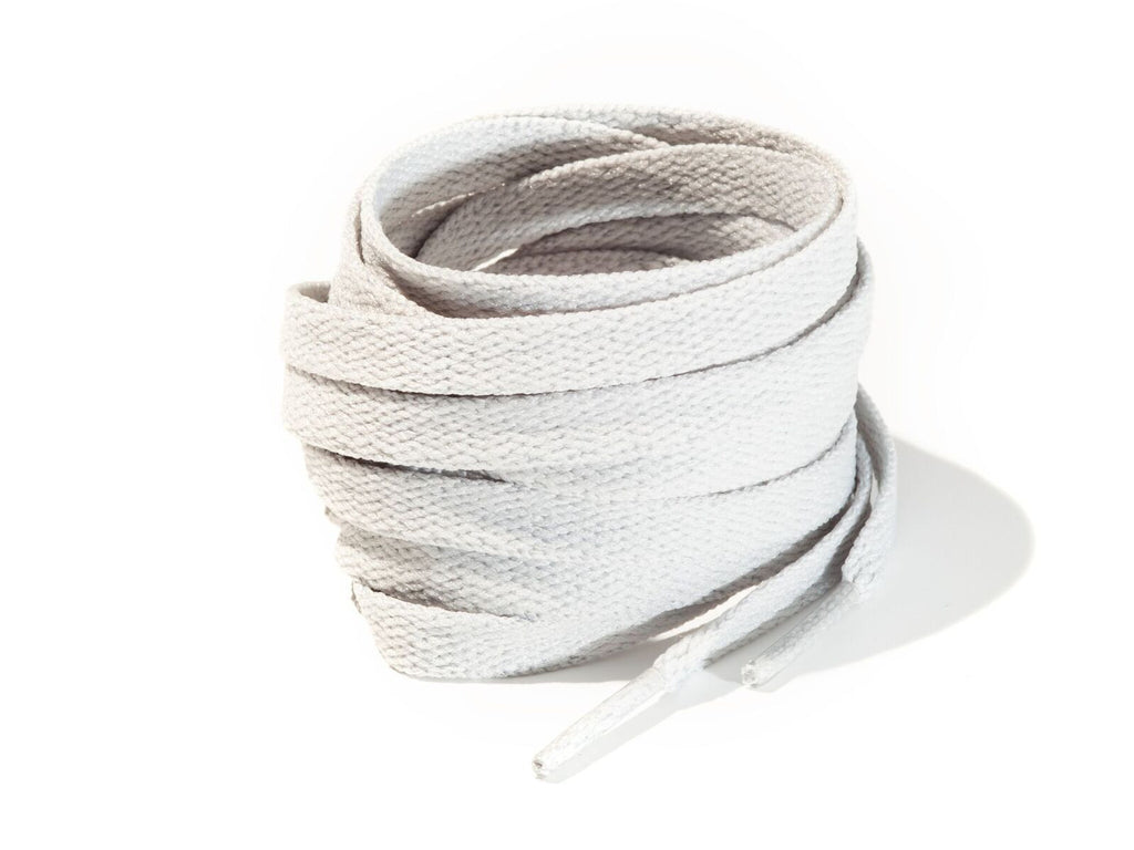 Cool Grey 8mm Flat Solid Colour Laces