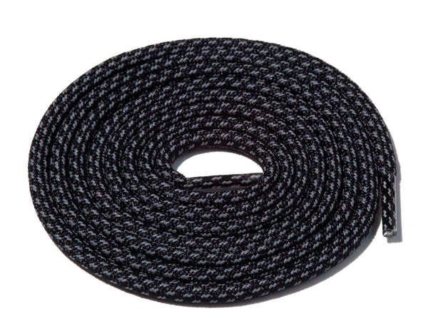 Black Fleck 3M Reflective Rope Laces Lace Supply Co