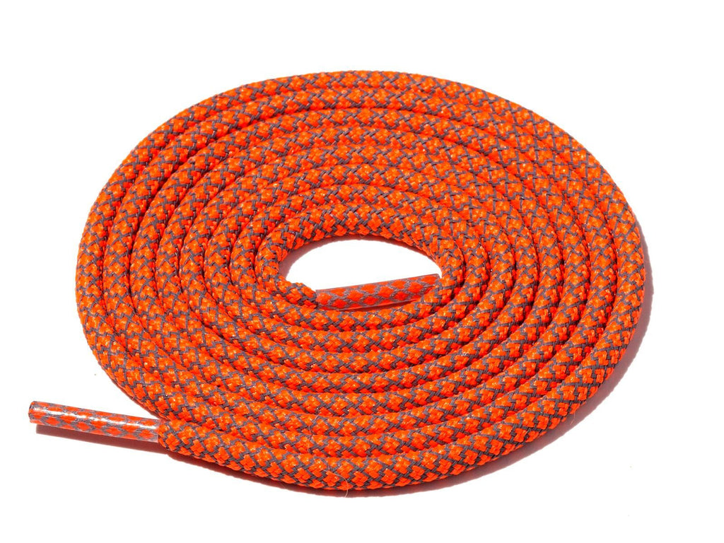 Lace Supply Co Neon Orange Check 3M Reflective Rope Laces