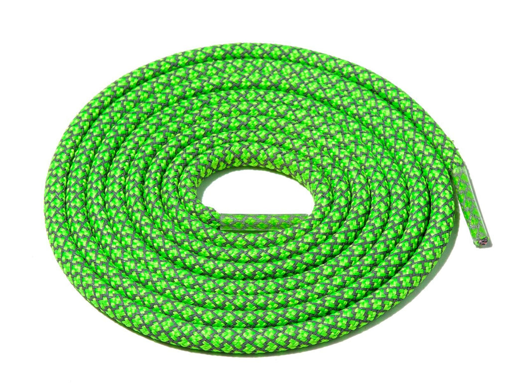 Lace Supply Co Neon Green Check 3M Reflective Rope Laces