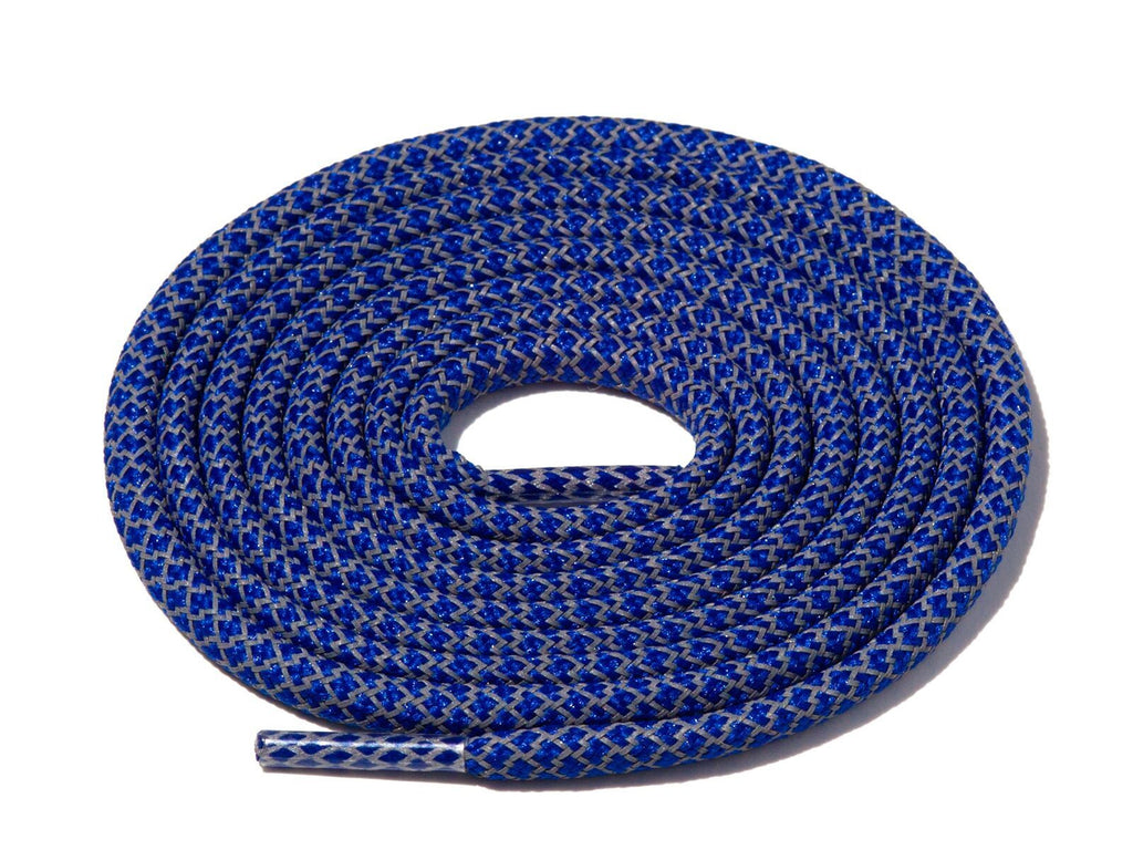 Lace Supply Co Royal Blue Check 3M Reflective Rope Laces