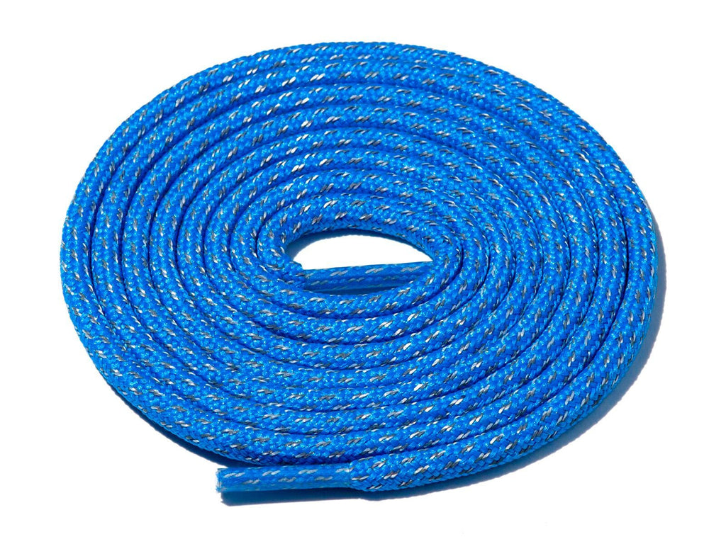 Blue Fleck 3M Reflective Rope Laces Lace Supply Co