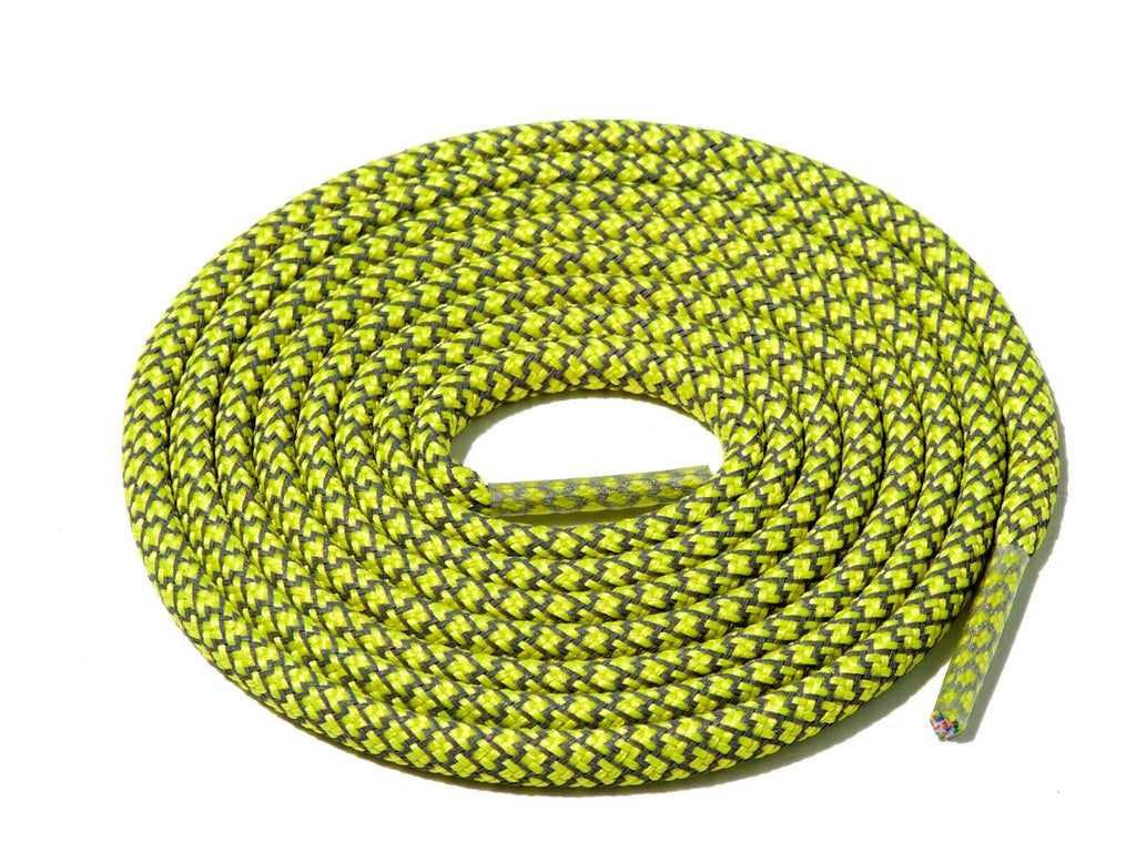 Lace Supply Co Light Yellow Check 3M Reflective Rope Laces