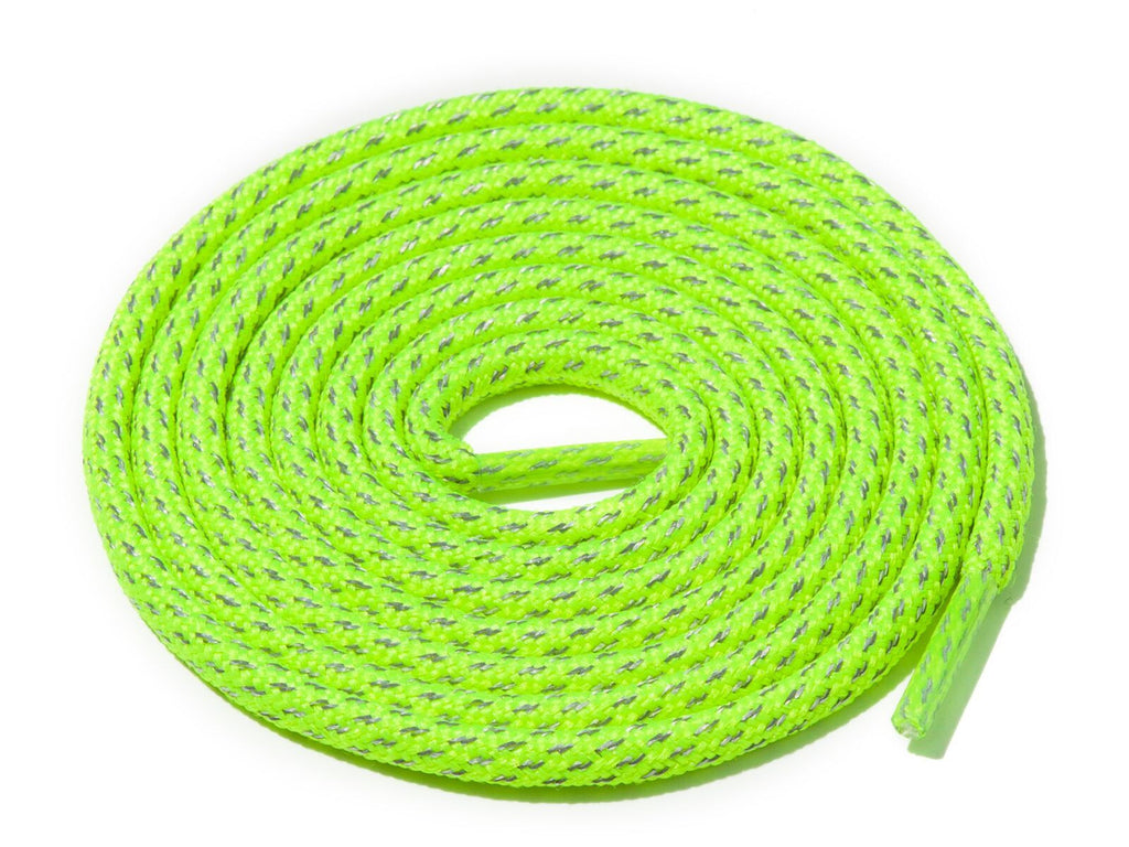 Lace Supply Co Neon Yellow Fleck 3M Reflective Rope Laces