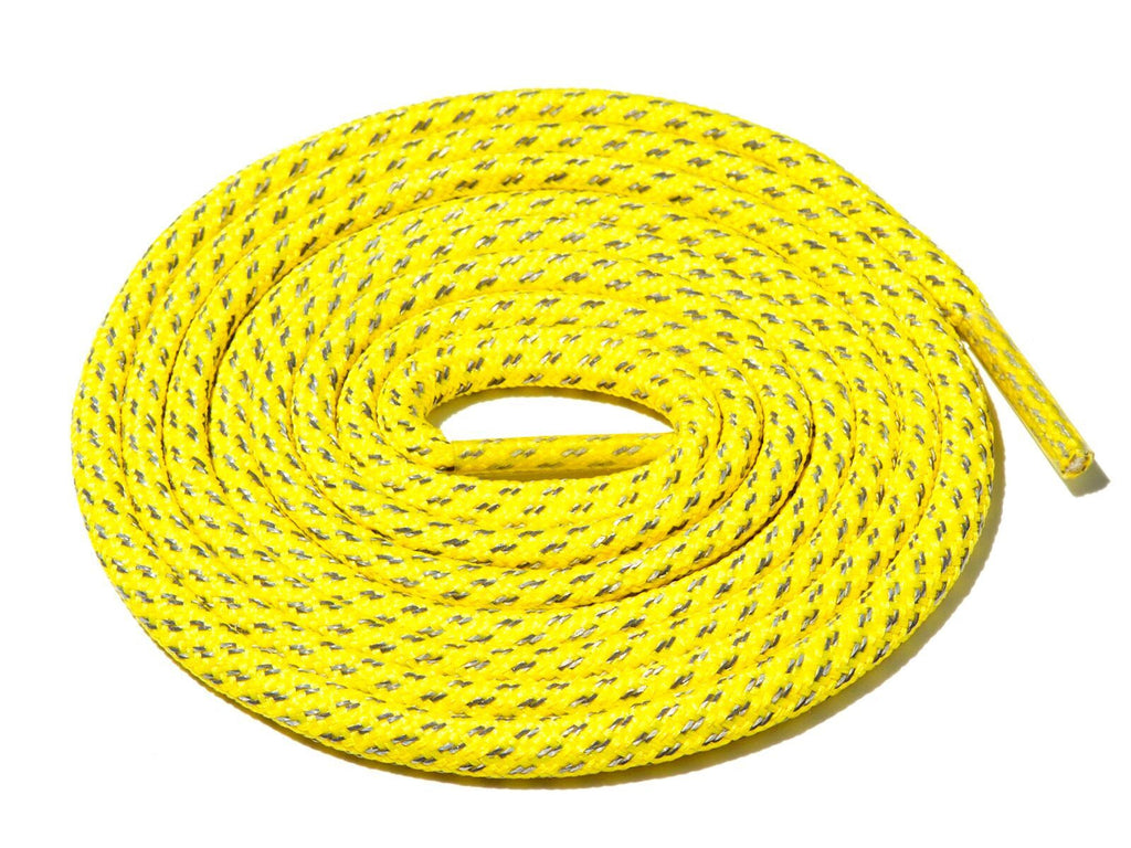 Lace Supply Co Yellow Fleck 3M Reflective Rope Laces
