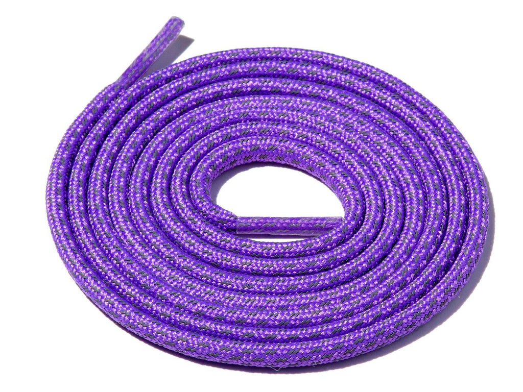 Deep Purple Fleck 3M Reflective Rope Laces Supply Co