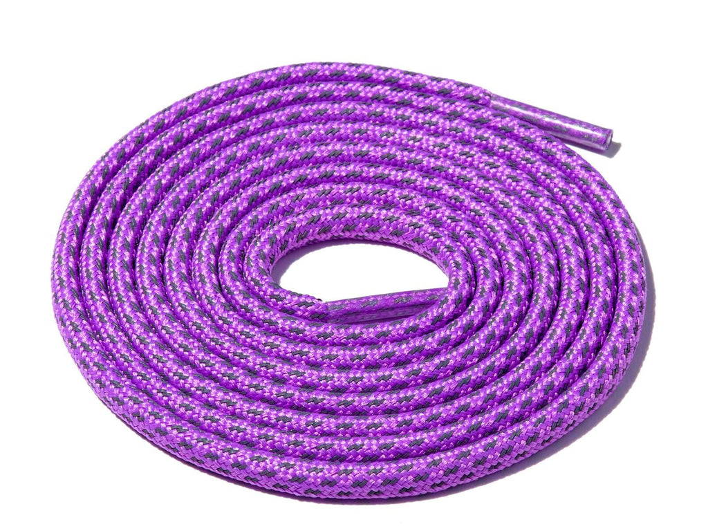 Lace Supply Co Purple Fleck 3M Reflective Rope Laces