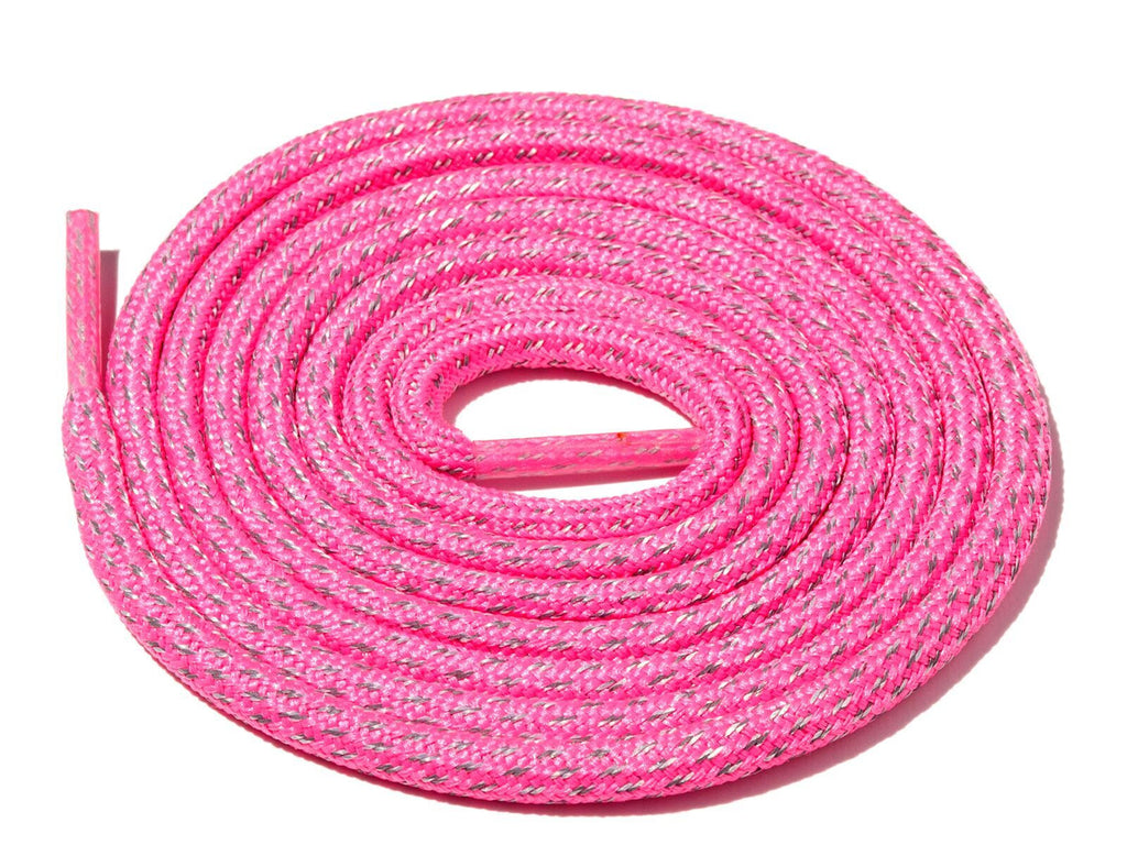 Lace Supply Co Neon Pink Fleck 3M Reflective Rope Laces
