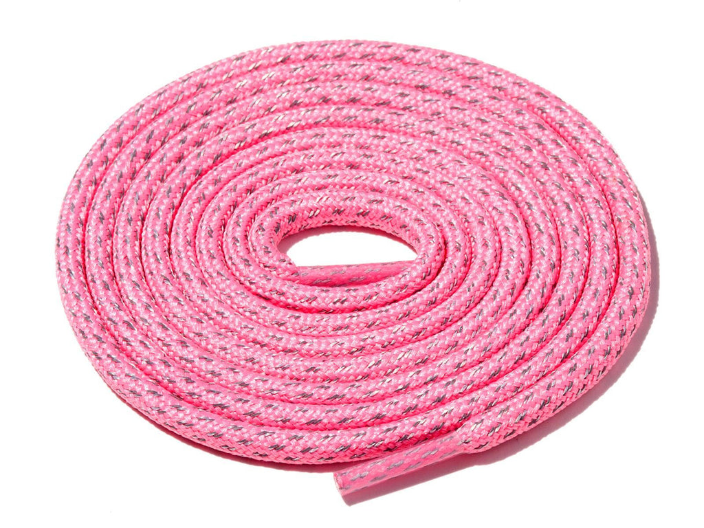 Lace Supply Co Pink Fleck 3M Reflective Rope Laces