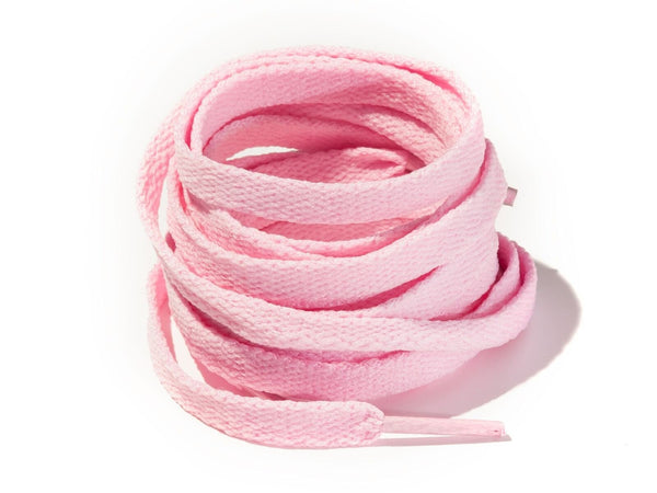 Jordan 1 Candy Pink 8mm Flat Solid Colour Laces