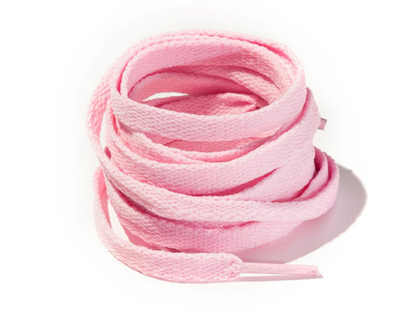 Candy Pink 8mm Flat Solid Colour Laces
