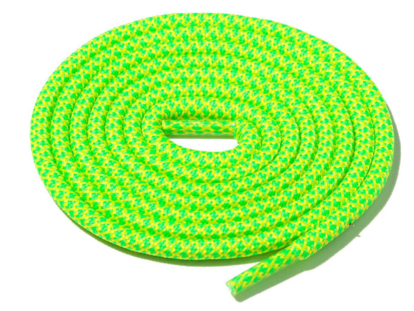 Green & Yellow Rope Laces Dual Lace Supply Co