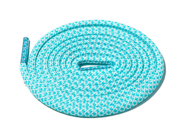 Lace Supply Co Mint & White Rope Laces Dual