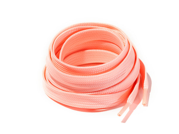 Lace Supply Co Pink Glow In The Dark Flat Laces