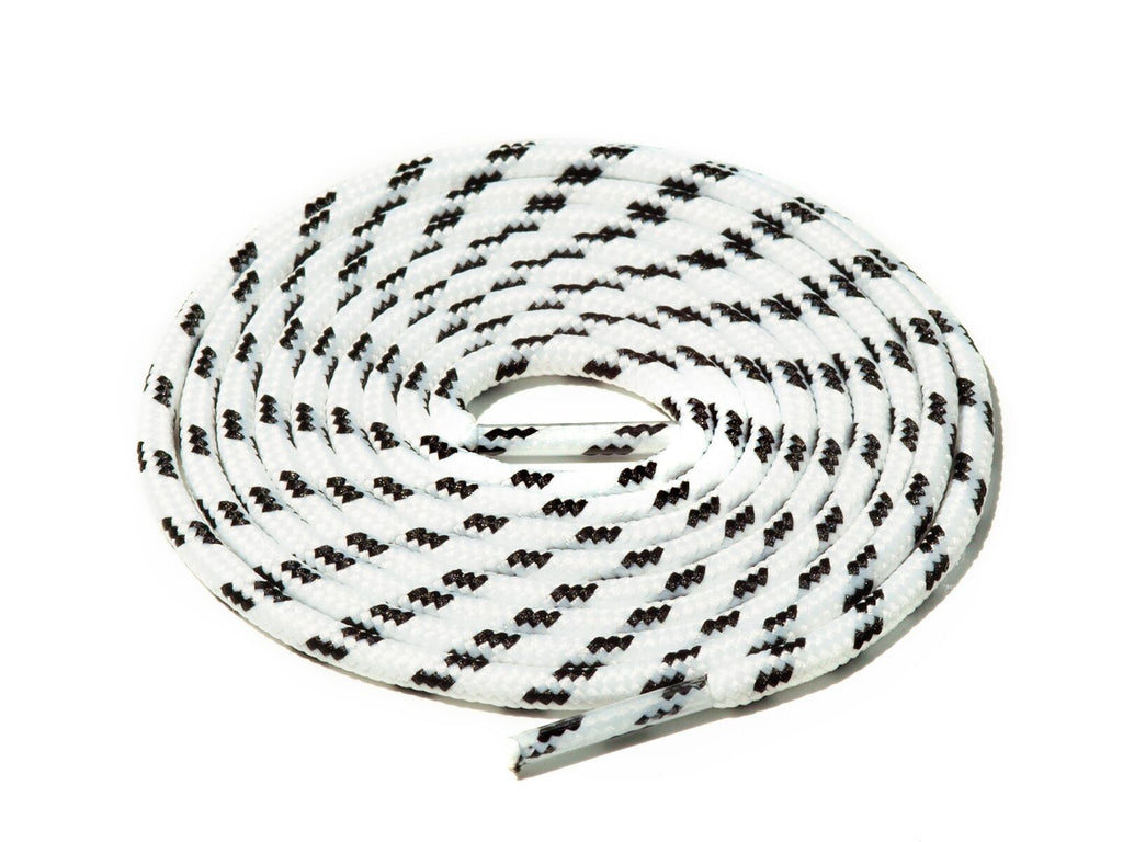 Lace Supply Co White & Black Spotted Rope Laces
