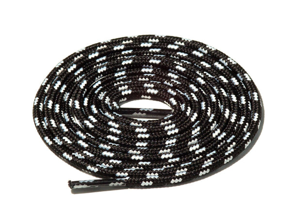 Black & White Spotted Rope Laces Lace Supply Co