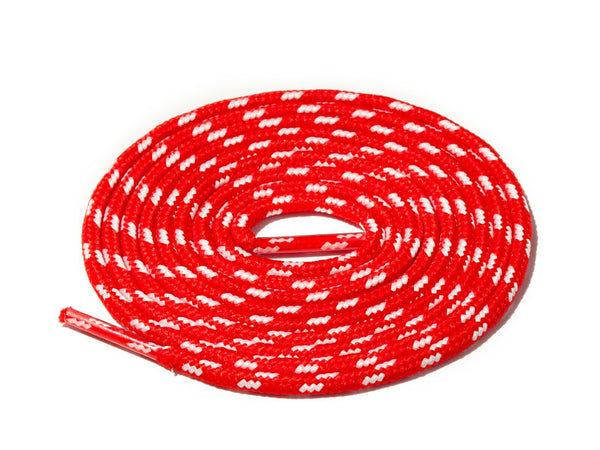 Lace Supply Co Red & White Spotted Rope Laces