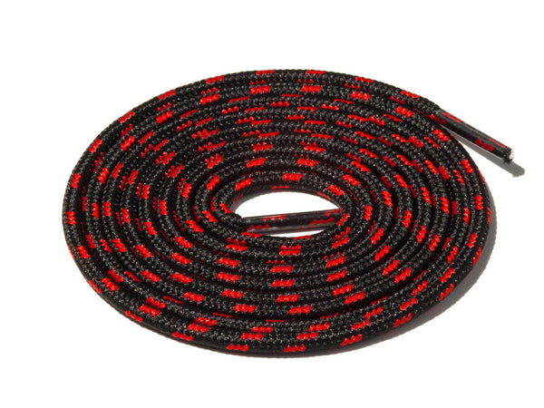 Black & Red Spotted Rope Laces Lace Supply Co