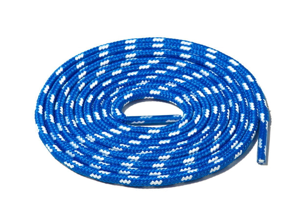 Blue & White Spotted Rope Laces Lace Supply Co