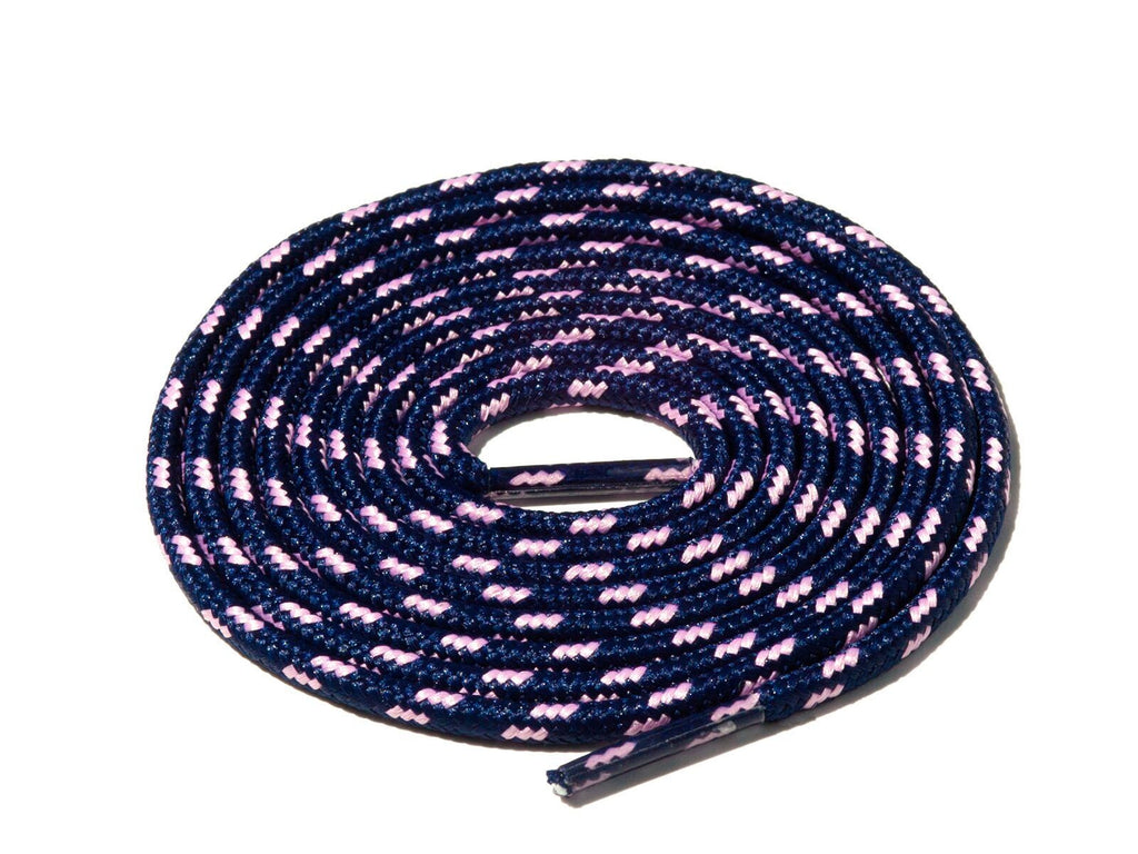 Lace Supply Co Navy Blue & Pink Spotted Rope Laces