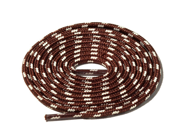 Brown & White Spotted Rope Laces Lace Supply Co