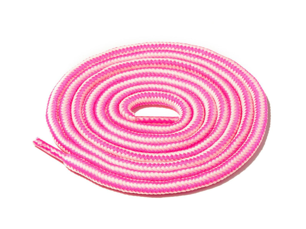 Lace Supply Co Pink & White Striped Rope Laces