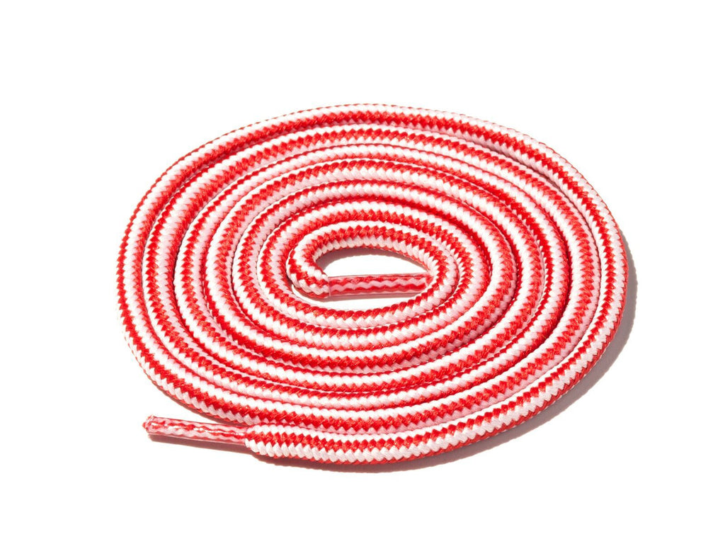 Lace Supply Co Red & White Striped Rope Laces