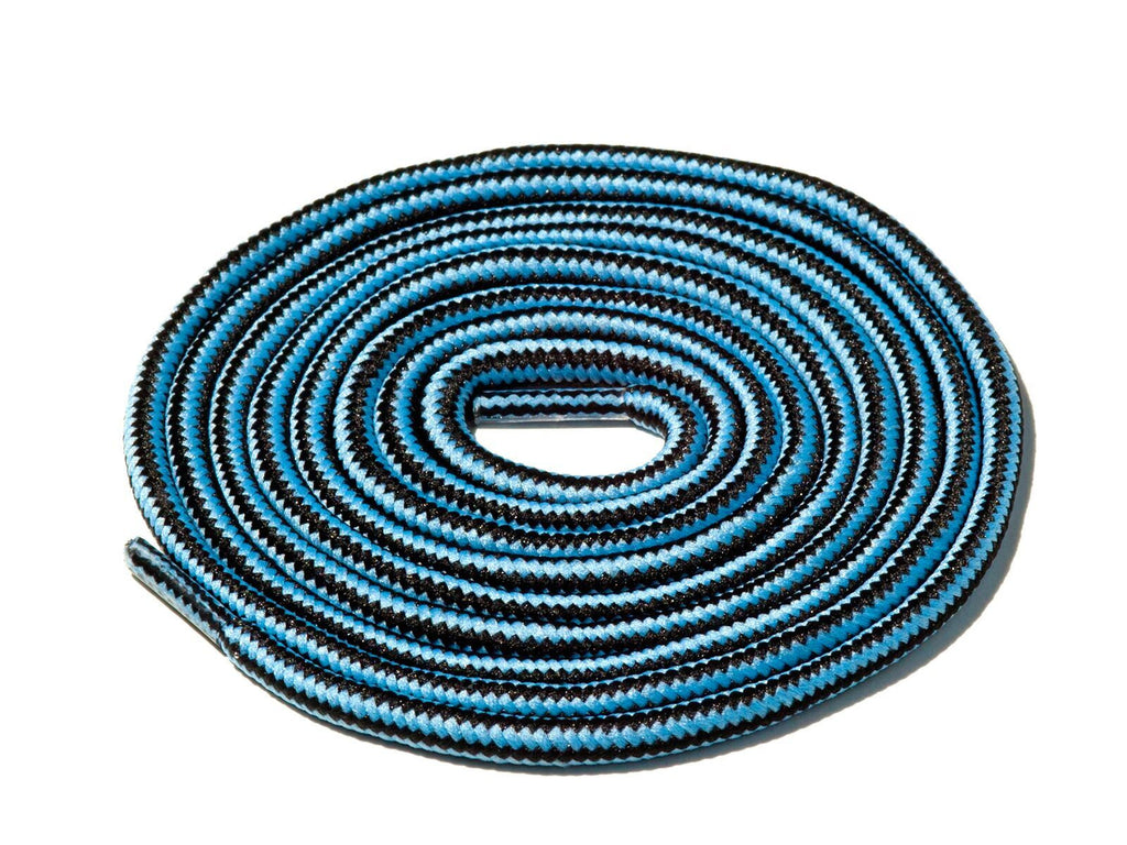 Lace Supply Co Black & Blue Striped Rope Laces