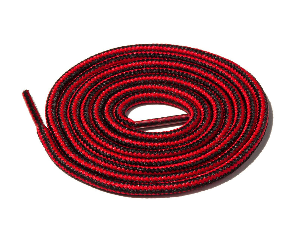 Black & Red Striped Rope Laces Lace Supply Co