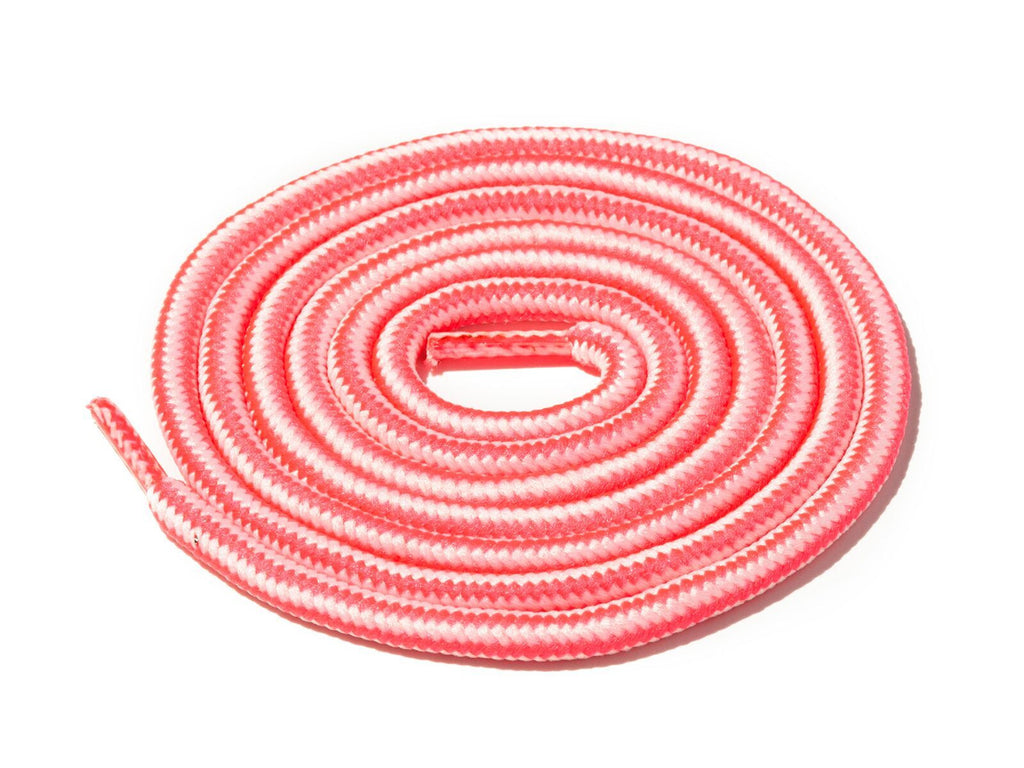 Lace Supply Co Pink & Cream Striped Rope Laces