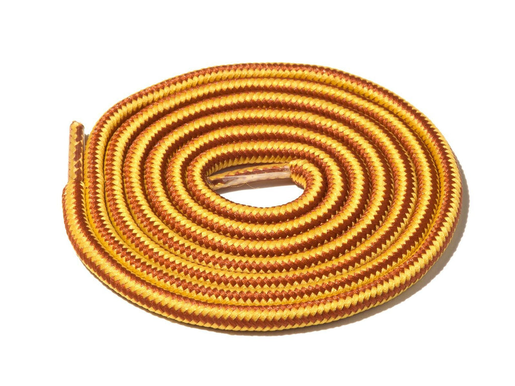 Brown & Yellow Striped Rope Laces Lace Supply Co