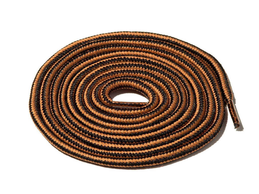 Brown & Black Striped Rope Laces Lace Supply Co