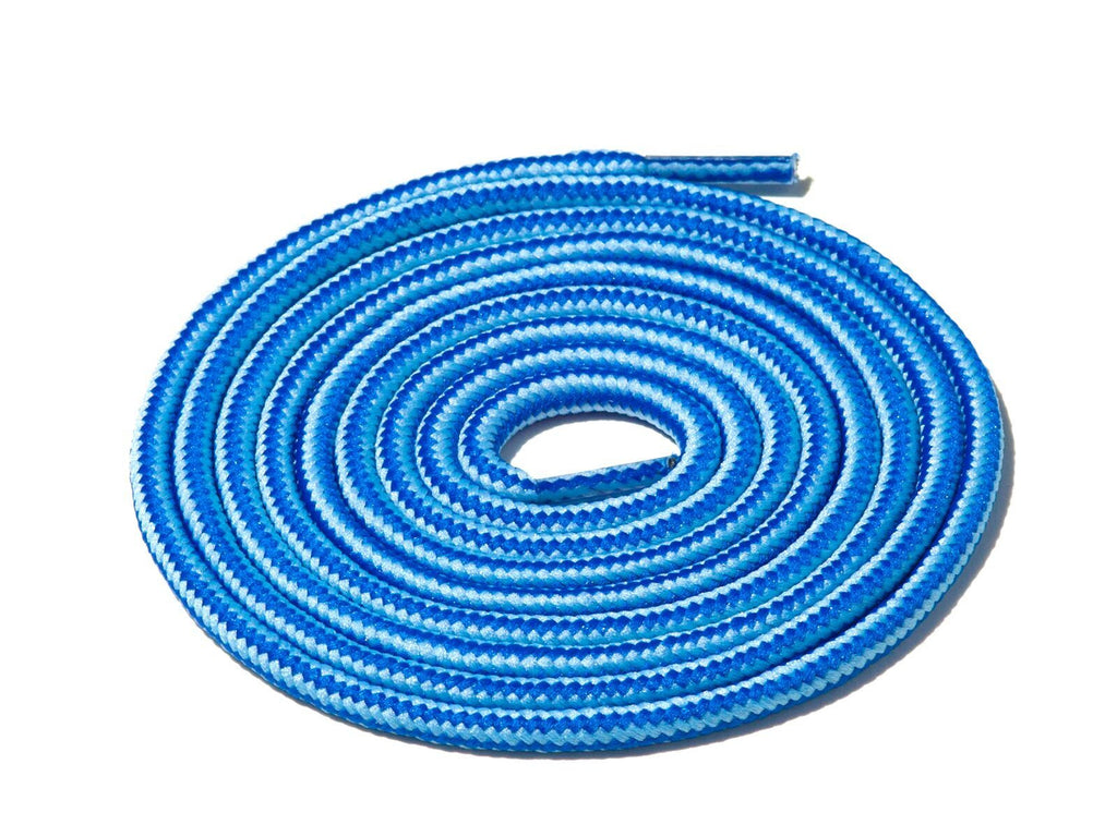Blue & Blue Striped Rope Laces Lace Supply Co