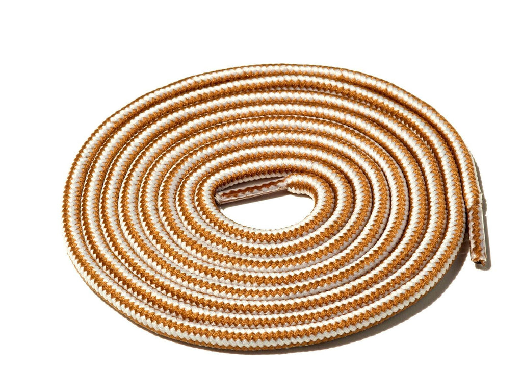 Lace Supply Co White & Gold Striped Rope Laces