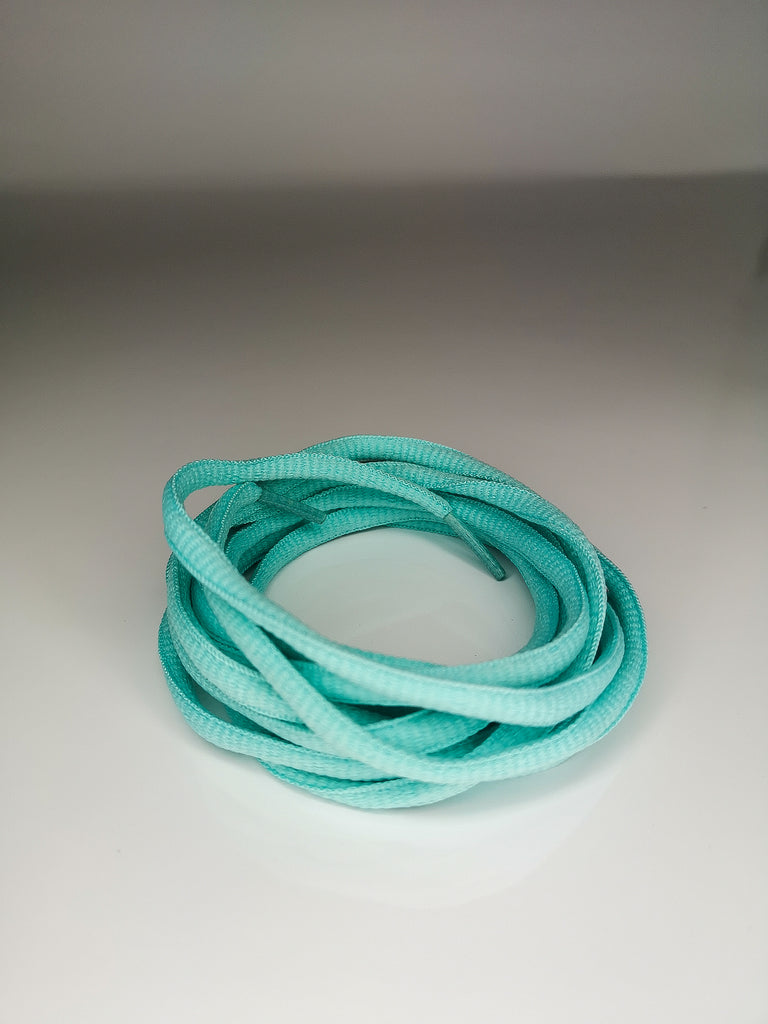 Powder Blue Oval Solid Colour Laces
