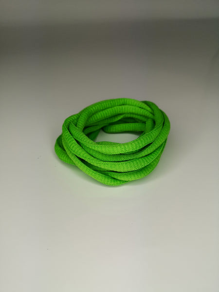 Grass Green Oval Solid Colour Laces