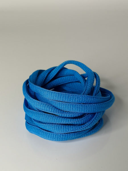 Sky Blue Oval Solid Colour Laces