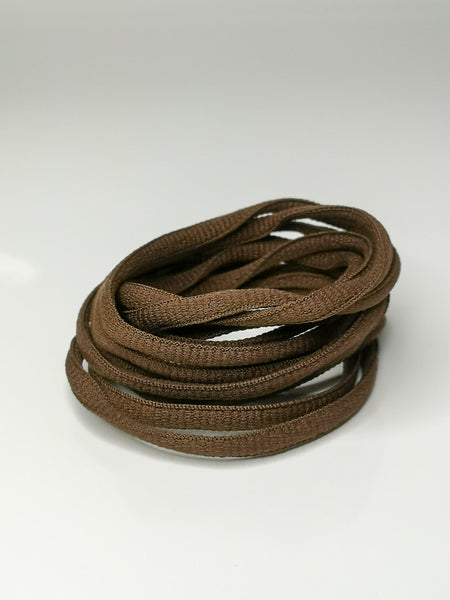 Dark Brown Oval Solid Colour Laces
