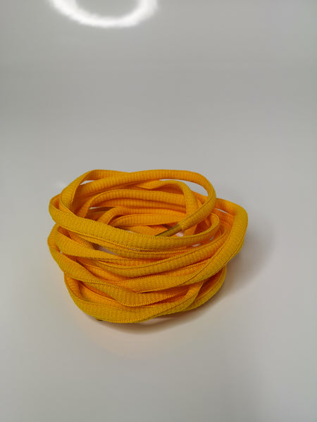 Golden Yellow Oval Solid Colour Laces