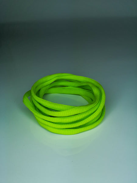 Lime Green Oval Solid Colour Laces