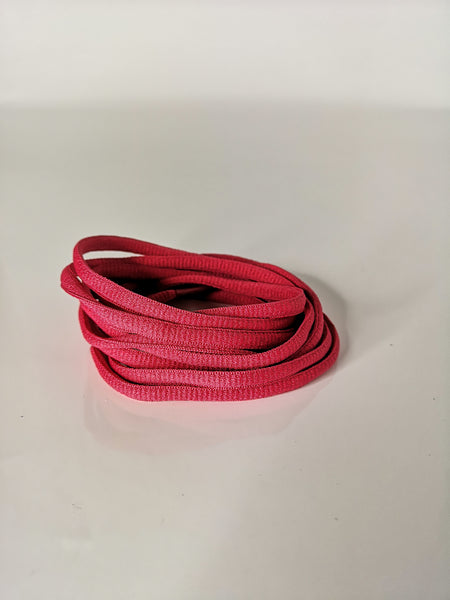 Magenta Oval Solid Colour Laces