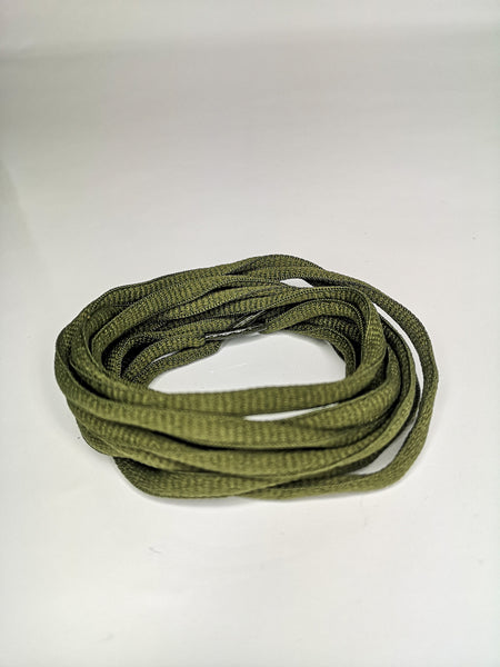 khaki Green Oval Solid Colour Laces